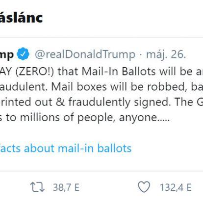 A Twitter tényleg cenzúrázta Trumpot? Vagy csak tényellenőrizte?