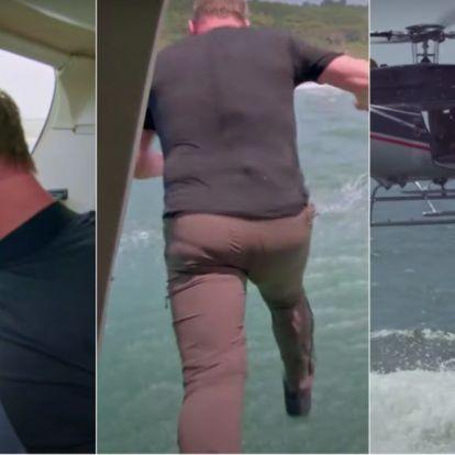 Gordon Ramsay kiugrott egy helikopterből