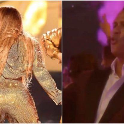 Megértjük, hogy Jennifer Lopez fenékrázása után, miért vágott ilyen arcot a vőlegénye