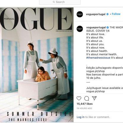 Nagyon nem sült el jól a portugál Vogue mentális egészségről szóló címlapja