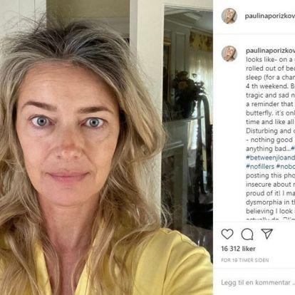 Tidligere supermodell Paulina Porizkova: - Jeg prøver å godta at jeg blir eldre