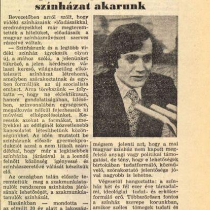 Óriási lebukás: világnézetileg elkötelezett színházat akart a kommunizmusban Székely Gábor, aki most politikafüggetlen és árnyalt színházat követel