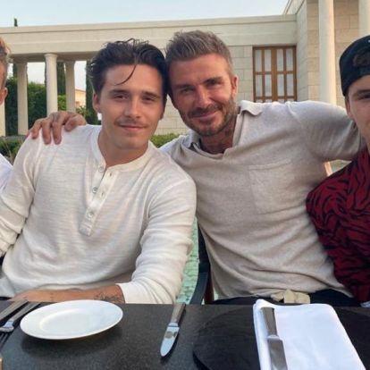 Itt egy fotó, amin egybegyűlt a Beckham család összes férfi tagja