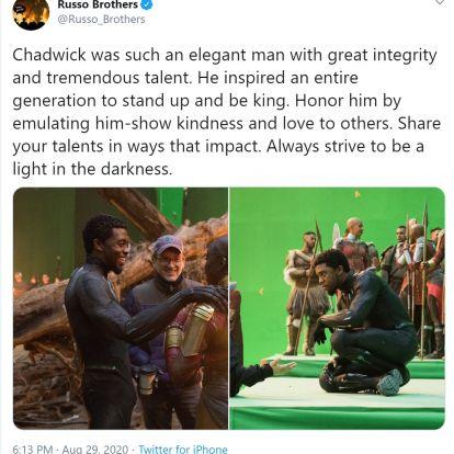 Robert Downey Jr. és a Russo fivérek is megemlékeztek Chadwick Bosemanről