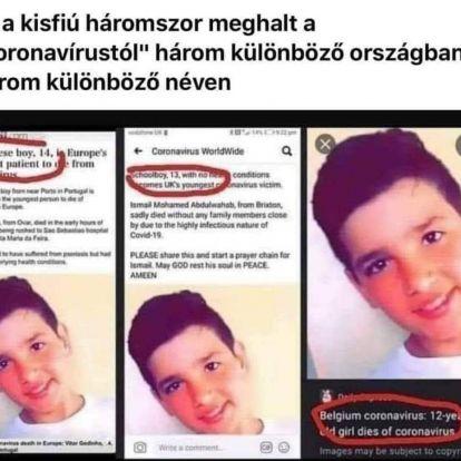 Tényellenőrzés: tényleg egy fotóval adott el három koronavírusos halálesetet a média?