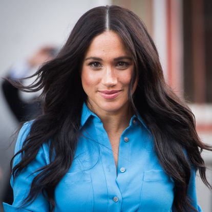 Meghan Markle's Low Ponytail Is Proof That Her Signature Style Works For Any Occasion (Zoom Calls Included)