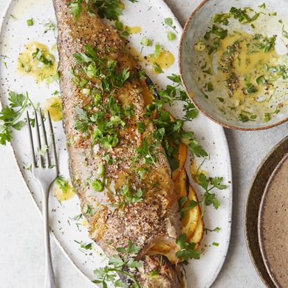 Gordon Ramsay's whole trout with satsuma beurre blanc