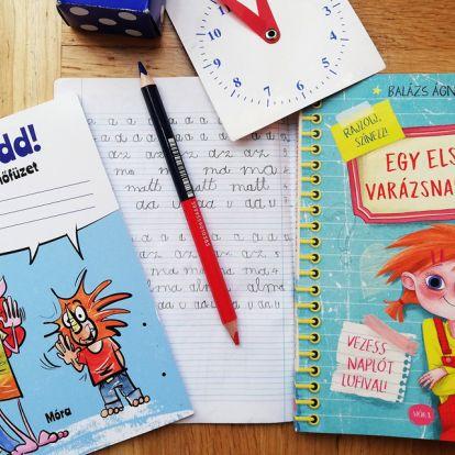 Egy elsős varázsnaplója! – Rajzolj, színezz, vezess naplót! + JÁTÉK!