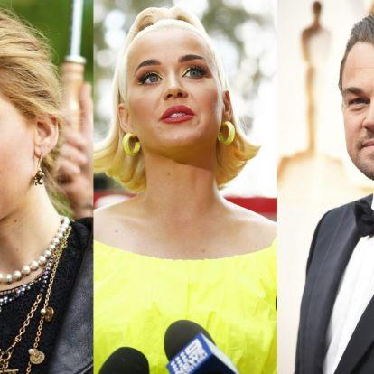 Jennifer Lawrence, Katy Perry, Leonardo DiCaprio és még tucatnyi híresség fagyasztotta be közösségi oldalait