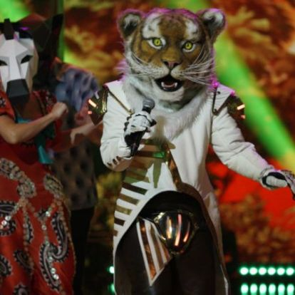 Álarcos énekes: Eszenyi Enikőt rejtette a Tigris maszk