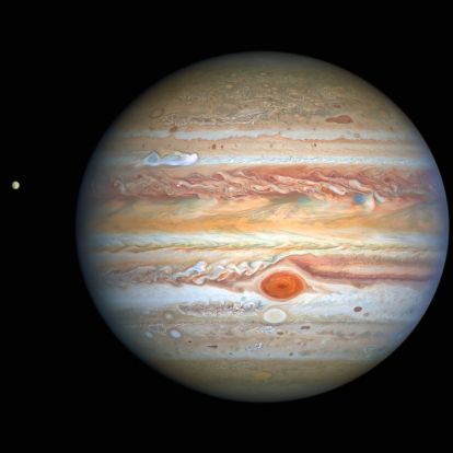 Így néz ki a nagyjából 560 km/órás sebességgel dúló vihar a Jupiteren