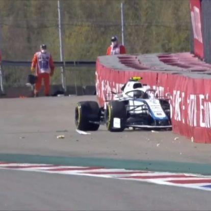 Orosz Nagydíj: baleset a szabadedzésen, Hamilton csak 19.