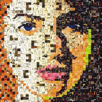 Kreatív újrahasznosítás művészi színvonalon: mozaikportrék papírhulladékból