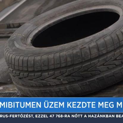 Új gumibitumen üzem kezdte meg működését