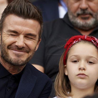 David Beckham szájon puszilta a kislányát és kitört az inkvizíció