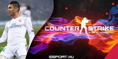 A Real Madrid középpályása, Casemiro is a CS:GO-t választotta