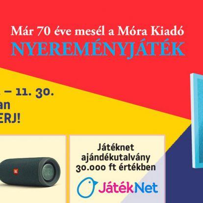 Boldog szülinapot! – 70 éves a Móra Kiadó – egész novemberben ünnepi játékkal várnak benneteket!