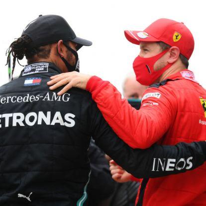 Ezt gondolja Vettel a hetedik világbajnoki címét nyerő Hamiltonról