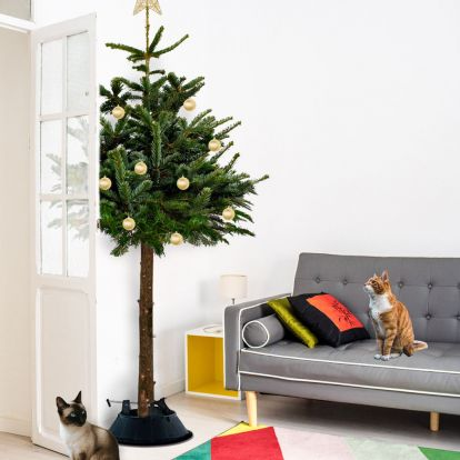 Cat owners rejoice! Behold the real Christmas trees tweaked to be cat-proof