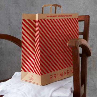 Primark has introduced pretty shopping bags which double up as wrapping paper