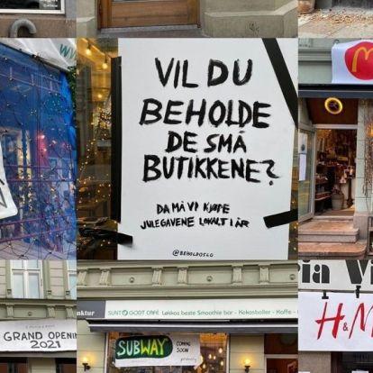 Populært Oslo-strøk ble fylt opp med plakater: - Trist hvis butikkene erstattes av store kjeder