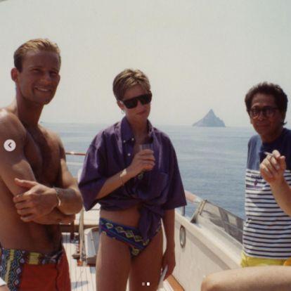 La fotografía nunca vista de Diana de Gales en bikini a bordo de un yate y con Kyril de Bulgaria