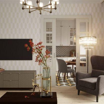 Házaspár modern klasszikus stílusban, szépen és ízlésesen berendezett 55m2-es otthona