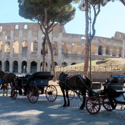Az állatok védelmében kitiltják Róma utcáiról a lovas fogatokat