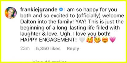 Ariana Grande's Mom Joan & Brother Frankie Are Over the Moon About Her Engagement To Dalton Gomez