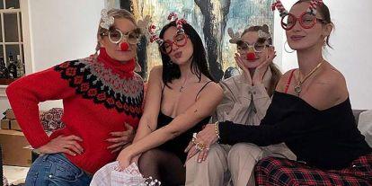 Los Hadid celebran la Navidad con un miembro más en la familia, ¡Dua Lipa!