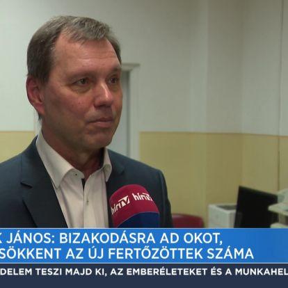 Szlávik János: Bizakodásra ad okot, hogy csökkent az új fertőzöttek száma