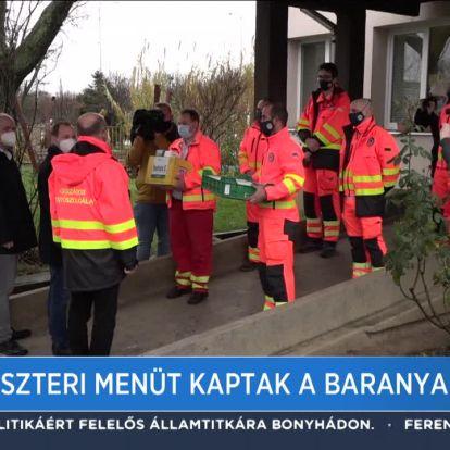 Szilveszteri menüt kaptak a baranyai mentősök