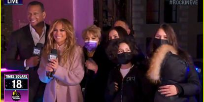 Jennifer Lopez & Alex Rodriguez's Kids Joined Them on Stage for New Year's Eve 2021!