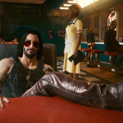 Egy mod segítségével már megfektethető Keanu Reeves a Cyberpunk 2077-ben