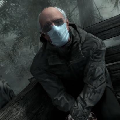 A Bernie Sanders mém bekerült a Resident Evil 7-be, a Dark Souls-ba, a Skyrimbe és a Soulcalibur 6-ba is, nem tudjuk eldönteni, hogy melyik a jobb