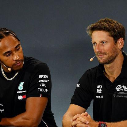 F1: Helyretette Hamiltont nagyot bukó pilótatársa