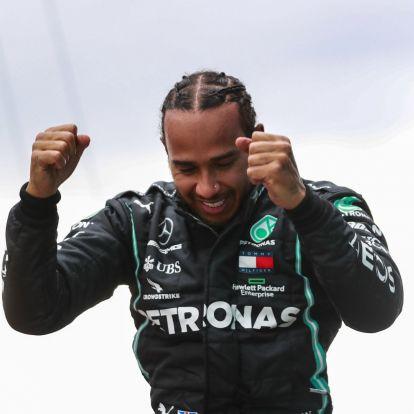 F1: Hamilton ezzel a gyönyörű nővel éjszakázott