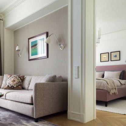 Idősebb generációnak tervezett, szolid eleganciával berendezett 58m2-es lakás