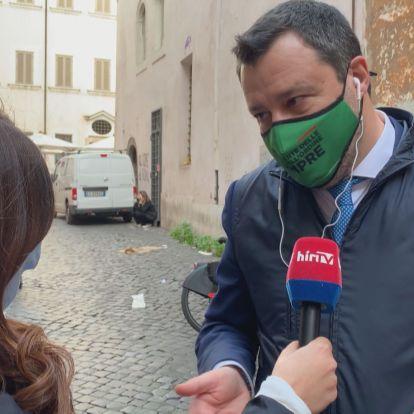Salvini: Mindenkinek jogában áll ellenőrizni, ki lép be és ki országa területére