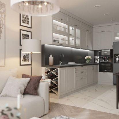 Harmónia és otthonos elegancia semleges színárnyalatokkal 60m2-es, kétszobás lakásban