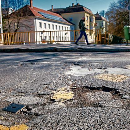 Kátyúzásra 67 millió forint lesz Szombathelyen, de az útfelújítás gyakorlatilag leállt