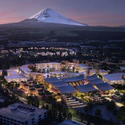 A Fudzsi lábánál épül a sci-fi filmekhez hasonló város