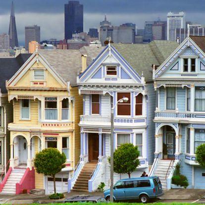 San Franciscóban lazán arrébb gurítottak egy 140 éves házat