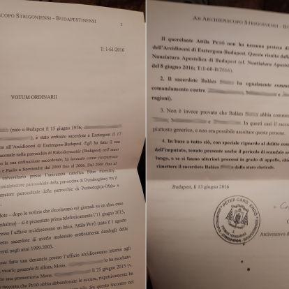 Dokumentum bizonyítja: bőven a sajtóbotrány előtt kirúgta volna a magyar egyház a molesztáló papot