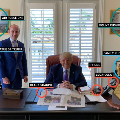 What a photo of Trump's new office reveals about how he wants to be remembered