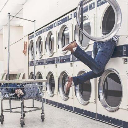 Halálra rémült, amikor egy ember nézett rá vissza a mosógépből