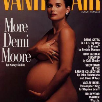 Demi Moore-hatás nálunk és külföldön: gyönyörű várandós nők, akik megmutatták a meztelen valóságot