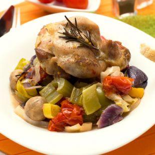 Zöldséges tepsis csirke