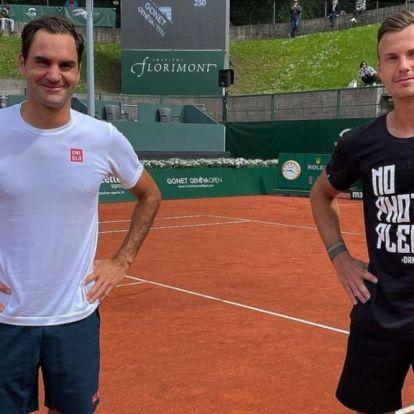 Federer a visszatérése előtt Fucsoviccsal edzett