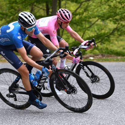 Óriásit küzdött Valter Attila a hegyi befutón, de nem tudta megtartani a rózsaszín trikót
